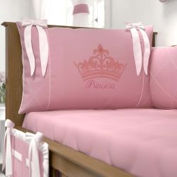 Kit Berço Princesa Rosa Premium