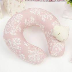 Protetor de Pescoço Bebê Ursinha Rosê Floral