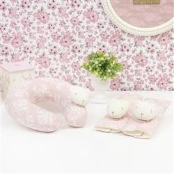 Kit Acessórios Cadeirinha Carro Ursinha Rosê Floral