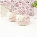 Pantufas Ursinha Rosê Floral