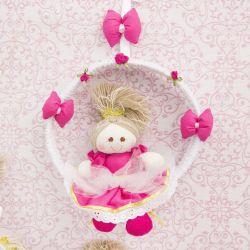 Porta Maternidade Princesa Sofia Pink