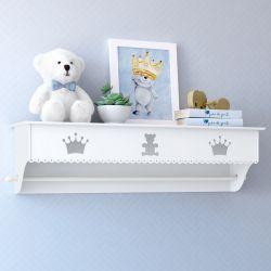 Prateleira com Varão Urso Realeza Branca