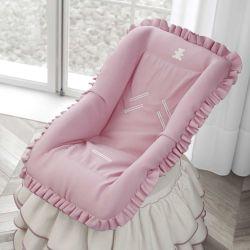 Capa de Bebê Conforto Realeza Rosa Premium