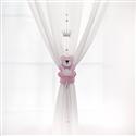 Pêndulos Cortina Realeza Rosa Premium