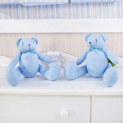 Ursos Azul Poá Laços