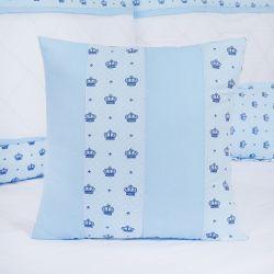 Almofada Quadrada Coroa Império Azul 40cm