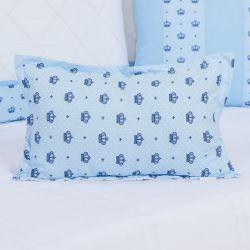 Almofada Retangular Coroa Império Azul 40cm