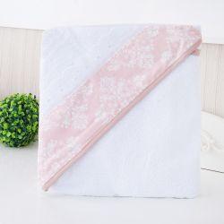 Toalha de Banho Forrada com Capuz Nobless Rosé