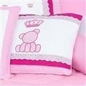 Almofada Decorativa Brasão Urso Classic Rosa