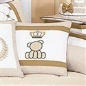 Almofada Decorativa Urso Coroa Classic Palha