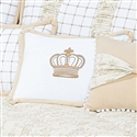 Almofada Decorativa Bordada Coroa Ninos Palha