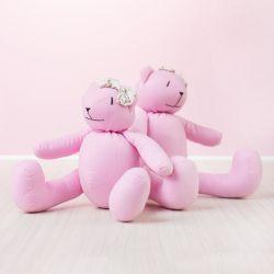 Ursas Rosa Póa com Laço Floral
