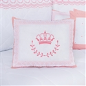 Almofada Decorativa Bordada Coroa Elegance Rosé