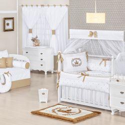 Quarto de Bebê sem Cama Babá Versailles Coroa Cáqui