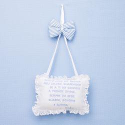 Porta Maternidade Oração Santo Anjo Manuela Azul