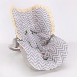 Capa de Bebê Conforto Chevron Amarelo