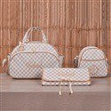 Conjunto de Bolsas Maternidade Paris Marfim Personalizadas