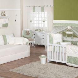 Quarto para Bebê sem Cama Babá Arabesco Verde