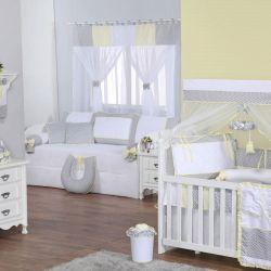 Quarto para Bebê sem Cama Babá Chevron Amarelo