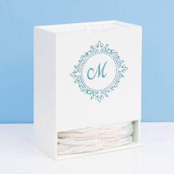 Porta Fraldas Marselle Azul com Inicial do Nome Personalizada