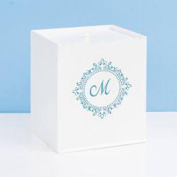 Lixeira Marselle Azul com Inicial do Nome Personalizada