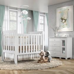 Quarto de Bebê Mila com Berço/Cômoda 1 Porta/Guarda-Roupa de 2 Portas