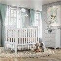 Quarto para Bebê Mila com Berço/Cômoda/Guarda Roupas de 4 Portas