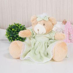 Ursa Linda Flor Verde 22cm