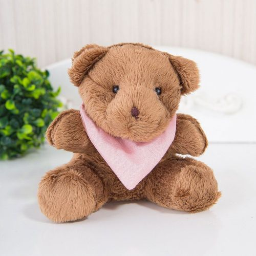 Ursa Mini com Bandana Linda Flor 13cm