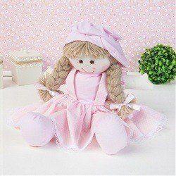 Boneca Nina Camponesa Rosa