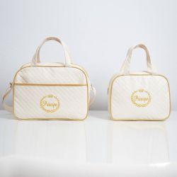 Conjunto de Bolsas Príncipe Branco