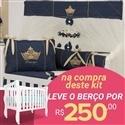 Kit Berço Príncipe Marinho Premium + Berço Mila