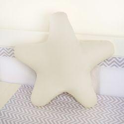 Almofada Estrela Bege