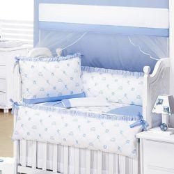 Kit Berço Doce Infância Azul