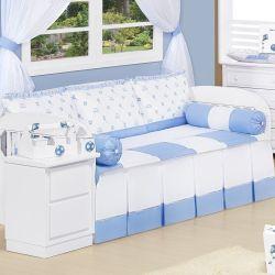 Kit Cama Babá Doce Infância Azul