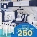 Kit Berço Teddy Marinho + Berço Mila