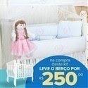 Kit Berço Princesa Rosa + Berço Mila
