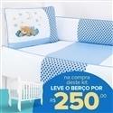 Kit Berço Soninho Azul + Berço Mila