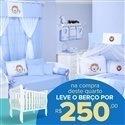 Quarto para Bebê sem Cama Babá Leãonardo + Berço Mila