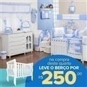 Quarto para Bebê sem Cama Babá Teddy Azul + Berço Mila