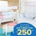 Quarto para Bebê sem Cama Babá Princesa Rosa + Berço Mila