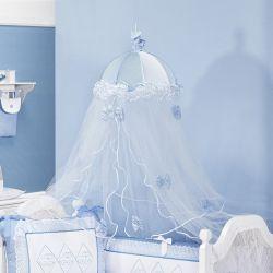 Mosquiteiro Dossel de Teto Topázio Azul