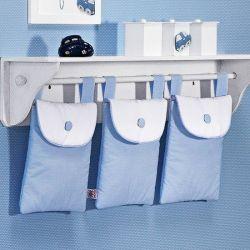 Porta Fraldas Varão Topázio Azul
