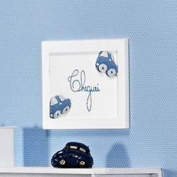Porta Maternidade Cheguei Topázio Azul