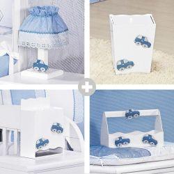 Kit Higiene Topázio Azul