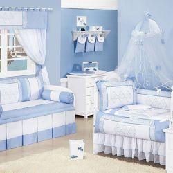 Quarto de Bebê sem Cama Babá Topázio Azul