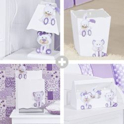 Kit Higiene Luna Lilás