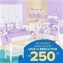 Quarto para Bebê sem Cama Babá Lola + Berço Mila