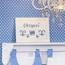 Porta Maternidade Cheguei Blue