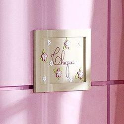 Porta Maternidade Cheguei Rosas